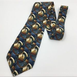 Jerry Garcia Clockworks silk tie Grateful Dead